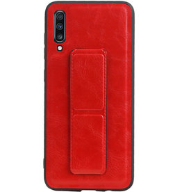 Grip Stand Hardcase Backcover voor Samsung Galaxy A70 Rood