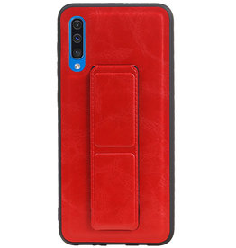 Grip Stand Hardcase Backcover for Samsung Galaxy A50 Red