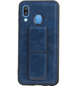 Grip Stand Hardcase Backcover for Samsung Galaxy A40 Blue