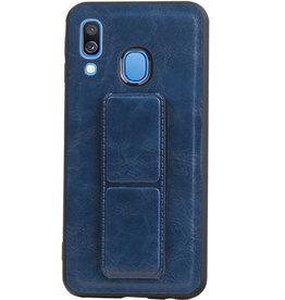 Grip Stand Hardcase Backcover für Samsung Galaxy A40 Blue