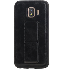 Grip Stand Hardcase Backcover for Samsung Galaxy J2 Core Black
