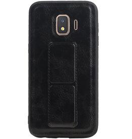 Grip Stand Hardcase Backcover voor Samsung Galaxy J2 Core Zwart