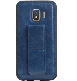 Grip Stand Hardcase Backcover für Samsung Galaxy J2 Core Blue