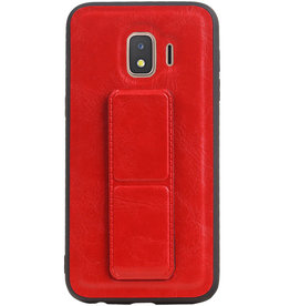 Grip Stand Hardcase Backcover for Samsung Galaxy J2 Core Red