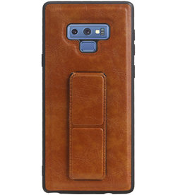 Grip Stand Hardcase Backcover for Samsung Galaxy Note 9 Brown