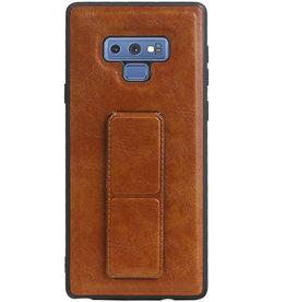 Grip Stand Hardcase Backcover für Samsung Galaxy Note 9 Braun