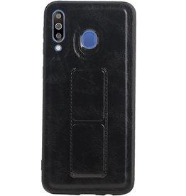 Grip Stand Hardcase Backcover für Samsung Galaxy M30 Schwarz