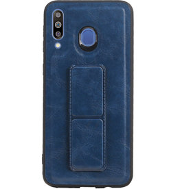Grip Stand Hardcase Backcover for Samsung Galaxy M30 Blue