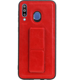 Grip Stand Hardcase Backcover for Samsung Galaxy M30 Red