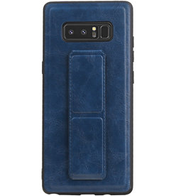 Grip Stand Hardcase Backcover voor Samsung Galaxy Note 8 Blauw