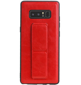 Grip Stand Hardcase Backcover für Samsung Galaxy Note 8 Red