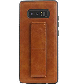 Grip Stand Hardcase Backcover for Samsung Galaxy Note 8 Brown