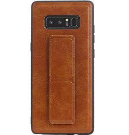 Grip Stand Hardcase Backcover für Samsung Galaxy Note 8 Braun