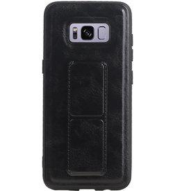 Grip Stand Hardcase Backcover für Samsung Galaxy S8 Black
