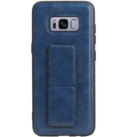 Grip Stand Hardcase Backcover voor Samsung Galaxy S8 Blauw