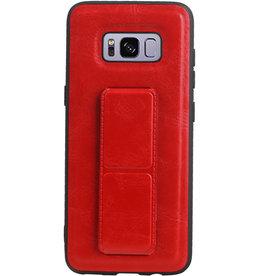 Grip Stand Hardcase Backcover für Samsung Galaxy S8 Red