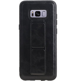 Grip Stand Hardcase Backcover for Samsung Galaxy S8 Plus Black