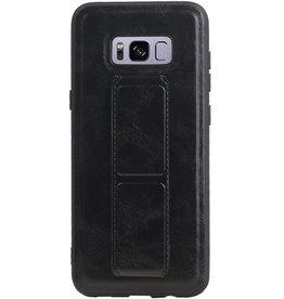 Grip Stand Hardcase Backcover für Samsung Galaxy S8 Plus Schwarz