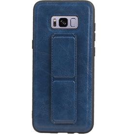 Grip Stand Hardcase Backcover für Samsung Galaxy S8 Plus Blue