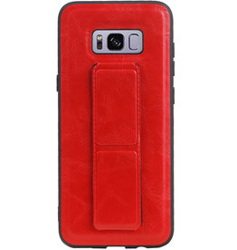 Grip Stand Hardcase Backcover for Samsung Galaxy S8 Plus Red