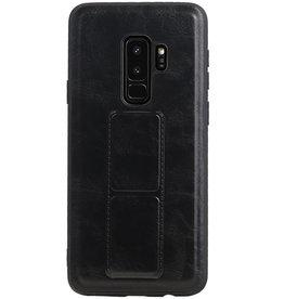 Grip Stand Hardcase Backcover für Samsung Galaxy S9 Plus Schwarz