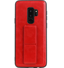 Grip Stand Hardcase Backcover für Samsung Galaxy S9 Plus Red