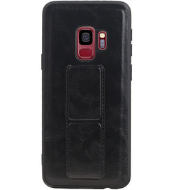 Grip Stand Hardcase Backcover for Samsung Galaxy S9 Black