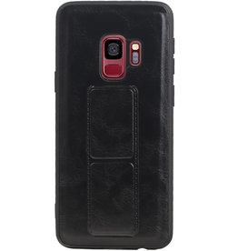 Grip Stand Hardcase Backcover für Samsung Galaxy S9 Black