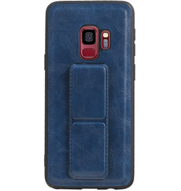 Grip Stand Hardcase Backcover voor Samsung Galaxy S9 Blauw
