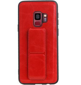 Grip Stand Hardcase Backcover für Samsung Galaxy S9 Red