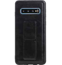 Grip Stand Hardcase Backcover for Samsung Galaxy S10 Blue