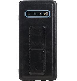 Grip Stand Hardcase Backcover für Samsung Galaxy S10 Blue