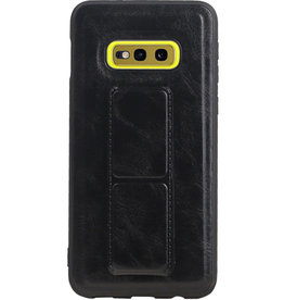 Grip Stand Hardcase Backcover für Samsung Galaxy S10E Schwarz