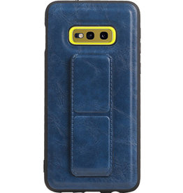 Grip Stand Hardcase Backcover für Samsung Galaxy S10E Blue
