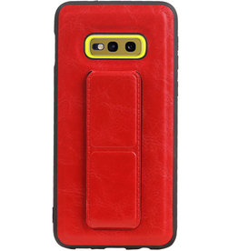 Grip Stand Hardcase Backcover für Samsung Galaxy S10E Red