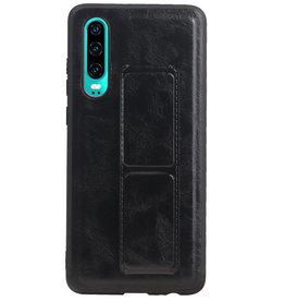 Grip Stand Hardcase Backcover voor Huawei P30 Zwart