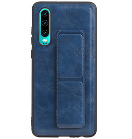 Grip Stand Hardcase Backcover voor Huawei P30 Blauw