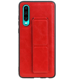Grip Stand Hardcase Backcover voor Huawei P30 Rood