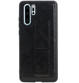 Grip Stand Hardcase Backcover for Huawei P30 Pro Black