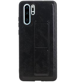 Grip Stand Hardcase Backcover voor Huawei P30 Pro Zwart