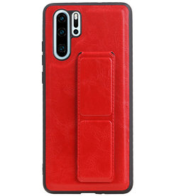 Grip Stand Hardcase Backcover for Huawei P30 Pro Red