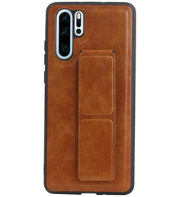 Grip Stand Hardcase Backcover for Huawei P30 Pro Brown