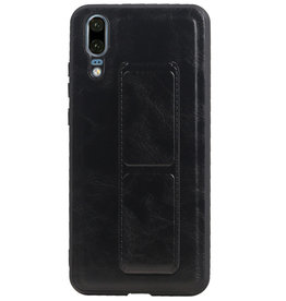 Grip Stand Hardcase Backcover für Huawei P20 Black