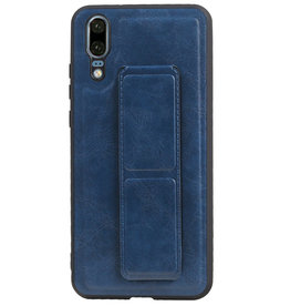 Grip Stand Hardcase Backcover voor Huawei P20 Blauw