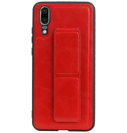Grip Stand Hardcase Backcover for Huawei P20 Red