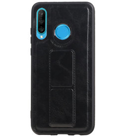 Grip Stand Hardcase Backcover for Huawei P20 Lite Black