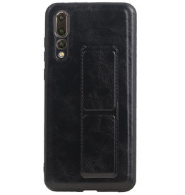 Grip Stand Hardcase Backcover for Huawei P20 Pro Black