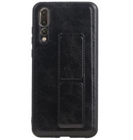 Grip Stand Hardcase Backcover für Huawei P20 Pro Schwarz