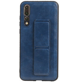Grip Stand Hardcase Backcover voor Huawei P20 Pro Blauw