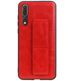 Grip Stand Hardcase Backcover für Huawei P20 Pro Red